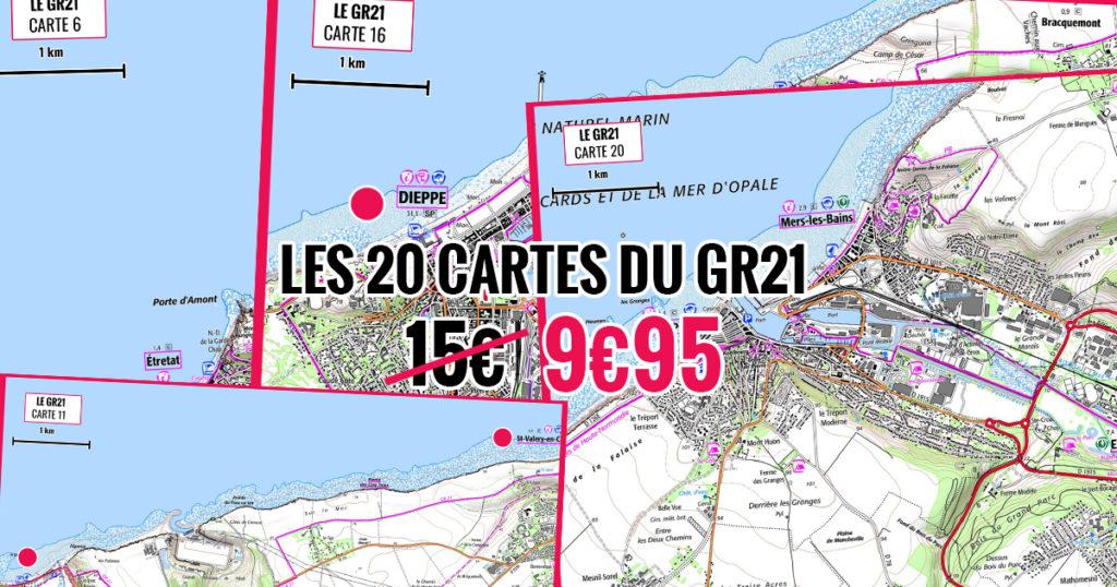 les cartes IGN du GR21